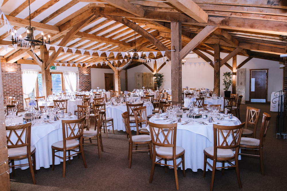 tables decorated for a wedding rustic look
